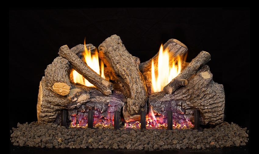 fireplace logs foothill oak